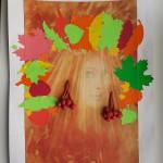 Зацева Дарина.  Осенний портрет мамы